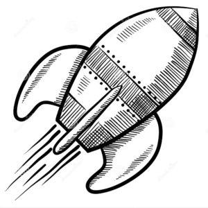 Ракета картинки раскраски (43)
