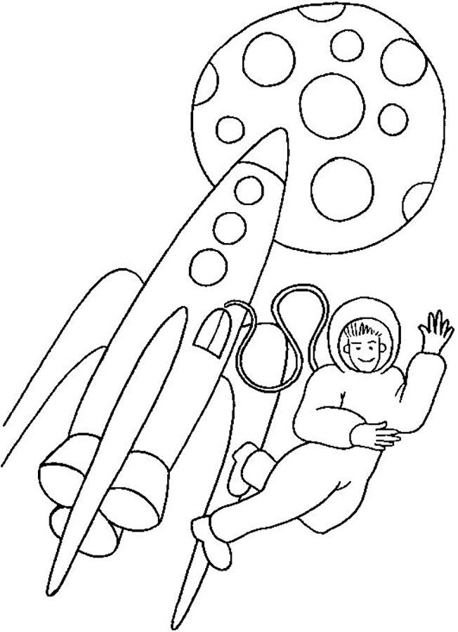 Ракета картинки раскраски (47)