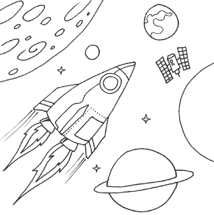 Ракета картинки раскраски (48)