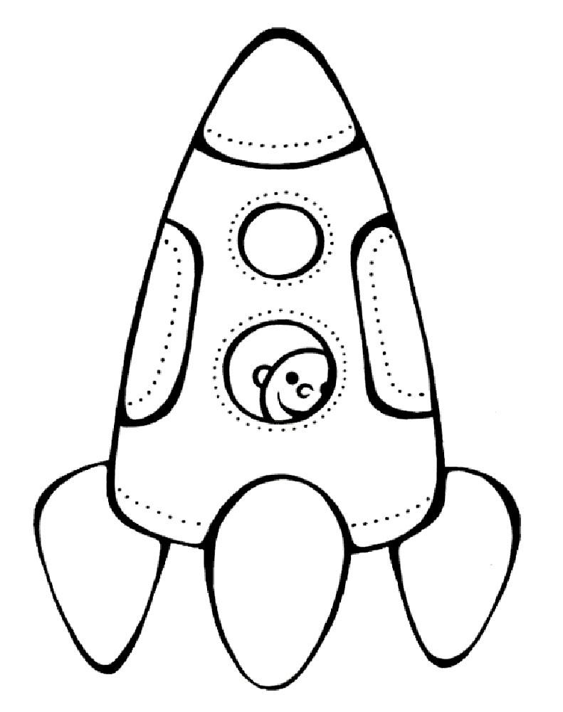 Ракета картинки раскраски (5)