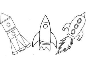 Ракета картинки раскраски (50)