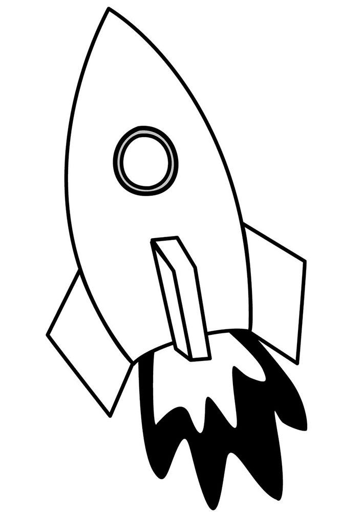 Ракета картинки раскраски (51)