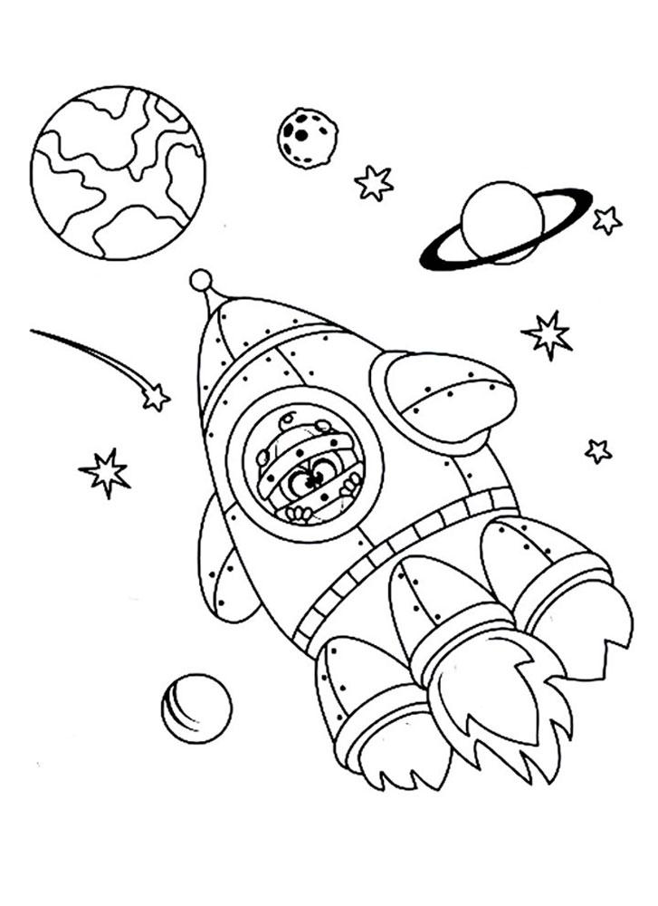 Картинки для раскраски про космос