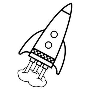 Ракета картинки раскраски (6)