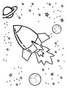 Ракета картинки раскраски (7)