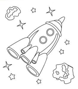 Ракета картинки раскраски (8)