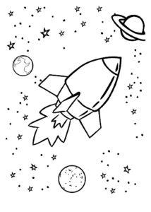 Ракета картинки раскраски (9)