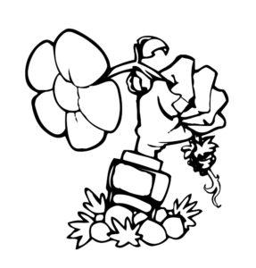 Растения против зомби картинки раскраски (19)