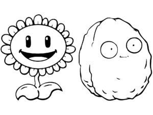 Растения против зомби картинки раскраски (2)