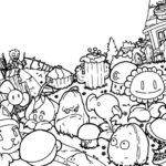Растения против зомби картинки раскраски (25)