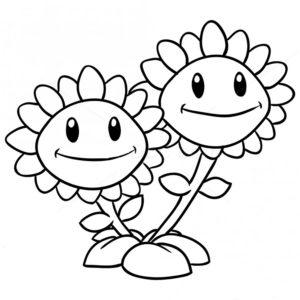 Растения против зомби картинки раскраски (32)