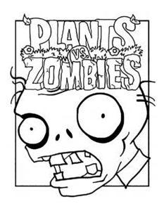 Растения против зомби картинки раскраски (33)