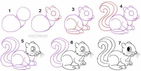 -белочку Как нарисовать белку