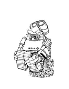 Роботы картинки раскраски (1)