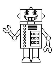 Роботы картинки раскраски (10)