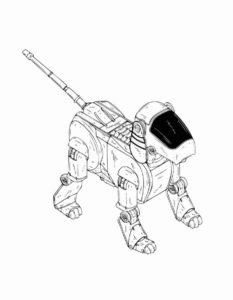 Роботы картинки раскраски (11)
