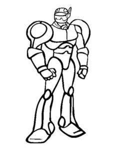Роботы картинки раскраски (13)