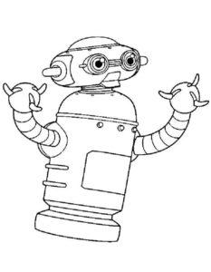Роботы картинки раскраски (14)