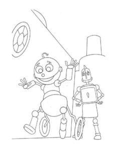 Роботы картинки раскраски (17)