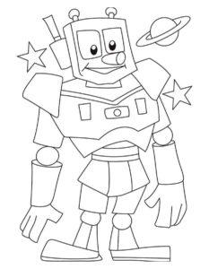 Роботы картинки раскраски (2)