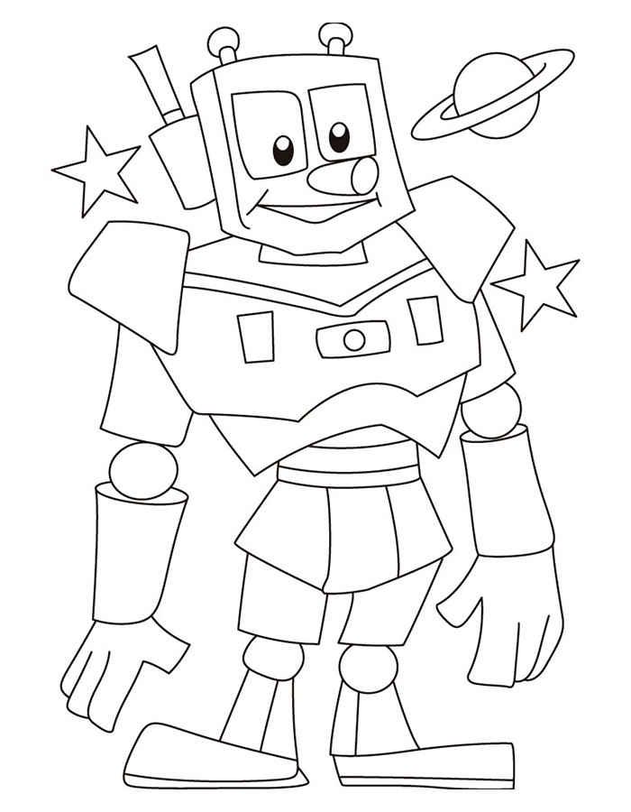 Роботы картинки раскраски для детей, смешные приветы