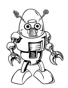 Роботы картинки раскраски (3)