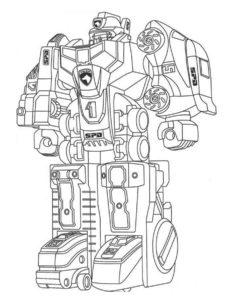 Роботы картинки раскраски (4)