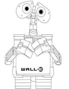 Роботы картинки раскраски (5)