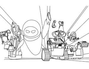 Роботы картинки раскраски (6)