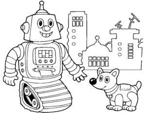 Роботы картинки раскраски (7)