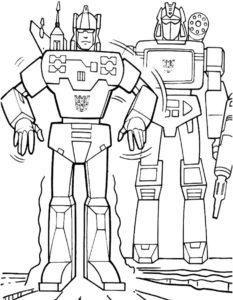Роботы картинки раскраски (8)