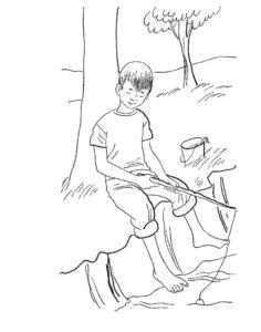 Рыбалка картинки раскраски (11)