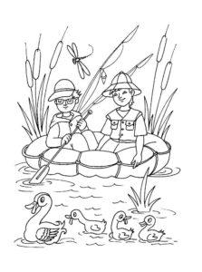 Рыбалка картинки раскраски (13)
