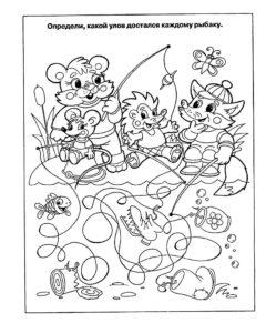 Рыбалка картинки раскраски (16)