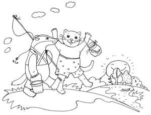 Рыбалка картинки раскраски (18)