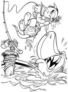 Рыбалка картинки раскраски (19)