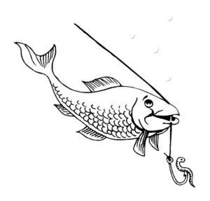 Рыбалка картинки раскраски (20)