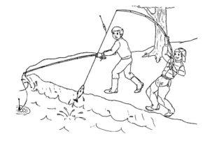 Рыбалка картинки раскраски (21)