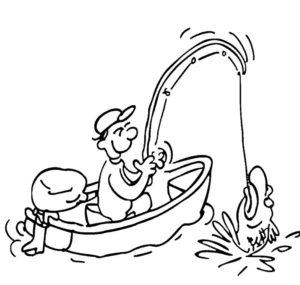 Рыбалка картинки раскраски (24)