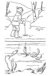 Рыбалка картинки раскраски (25)