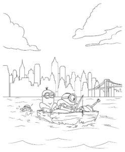 Рыбалка картинки раскраски (27)