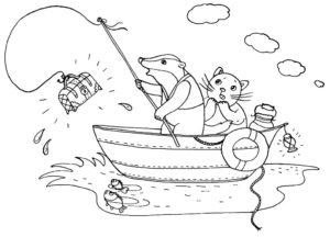 Рыбалка картинки раскраски (29)