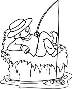 Рыбалка картинки раскраски (3)