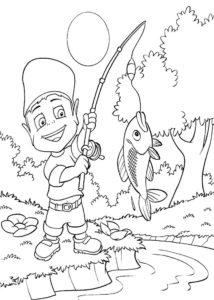 Рыбалка картинки раскраски (32)