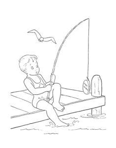 Рыбалка картинки раскраски (33)