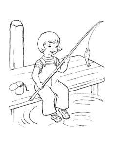 Рыбалка картинки раскраски (34)