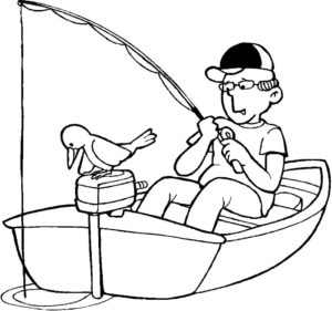 Рыбалка картинки раскраски (36)