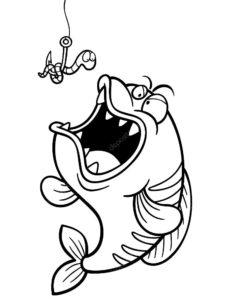Рыбалка картинки раскраски (40)