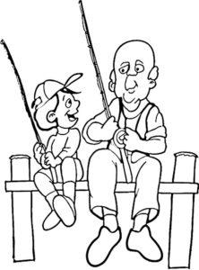 Рыбалка картинки раскраски (43)