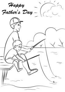 Рыбалка картинки раскраски (44)